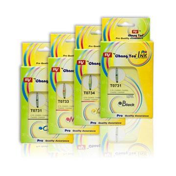 Rv for EPSON T0731N+T0732N+T0733N+T0734N相容墨水匣台灣RV生產(美國原料)