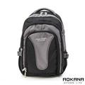 AOKANA奧卡納 護脊輕量防潑水電腦後背包(黑灰)68-025