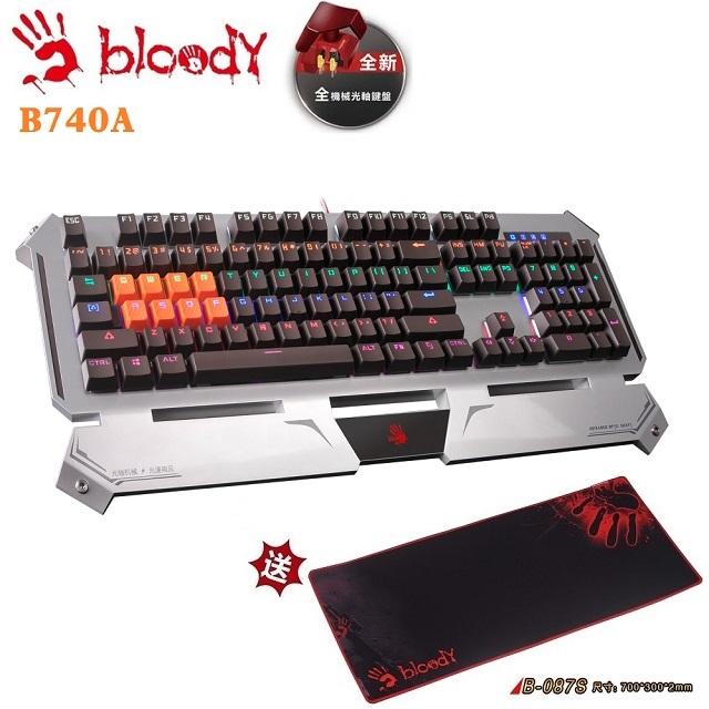 A4雙飛燕 Bloody B740A 光軸光速機械鍵盤