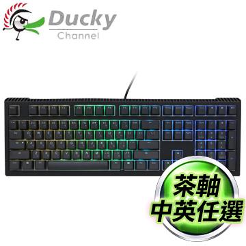 Ducky 創傑 Shine 6 茶軸 RGB PBT二色透光機械式鍵盤《中/英版任選》