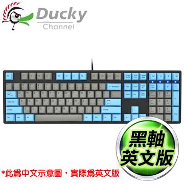 Ducky 創傑 One 黑軸 無背光 PBT熱昇華 藍灰帽 機械式鍵盤《英文版》