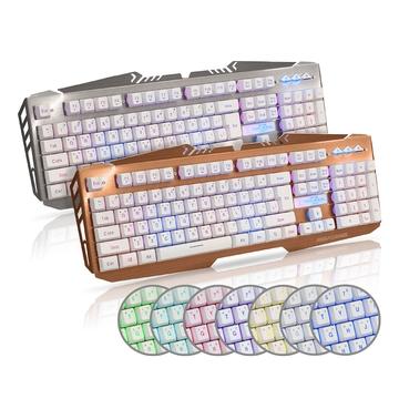 黑客 暗殺星 AK-8000 多媒體七色背光電競鍵盤(19鍵不衝突)