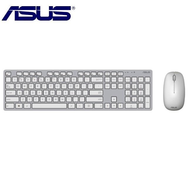 ASUS 原廠 W5000 輕薄無線鍵盤滑鼠組 (銀白色)