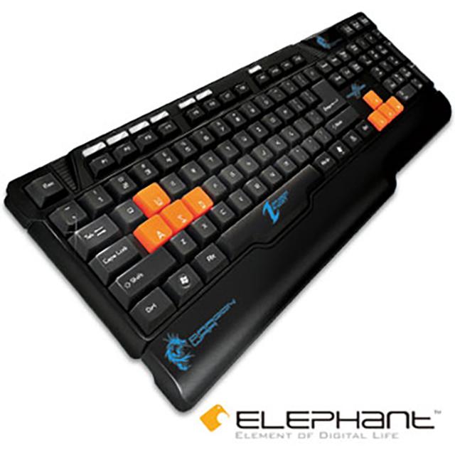 ELEPHANT龍戰系列-雷達多媒體電競鍵盤(KE-013)