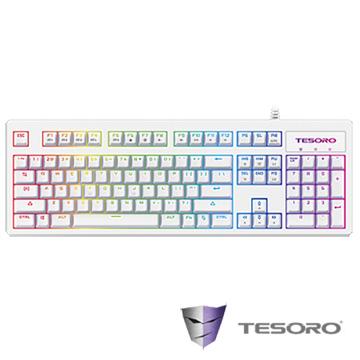 TESORO鐵修羅 Excalibur RGB V2神劍幻彩版機械式鍵盤-青軸中文白