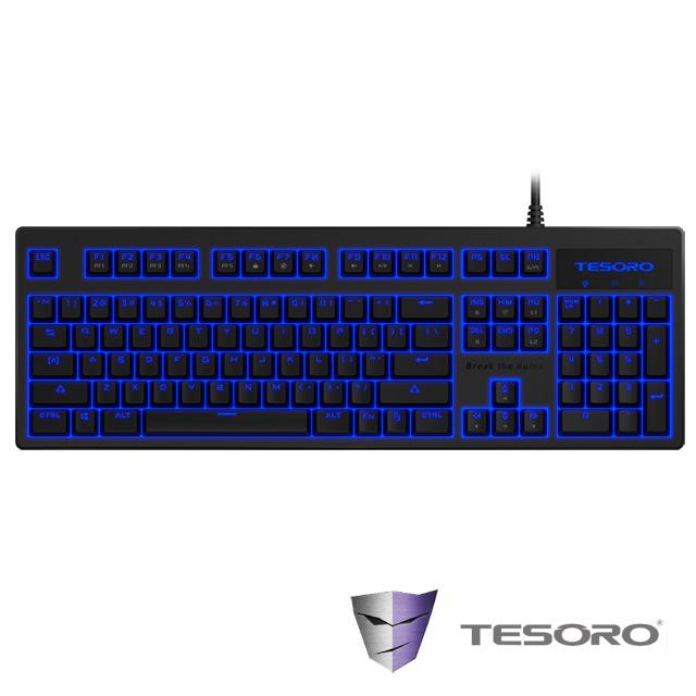 TESORO鐵修羅 神劍Excalibur V2機械式鍵盤-青軸中文黑