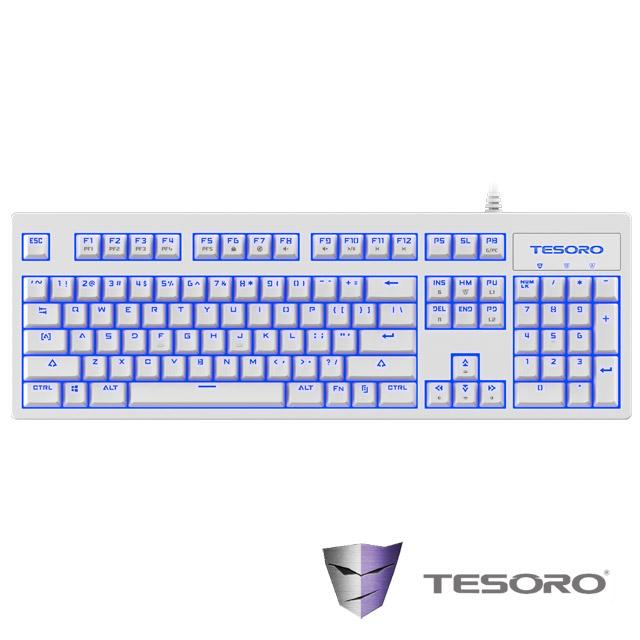 TESORO鐵修羅 神劍Excalibur V2機械式鍵盤-紅軸中文白