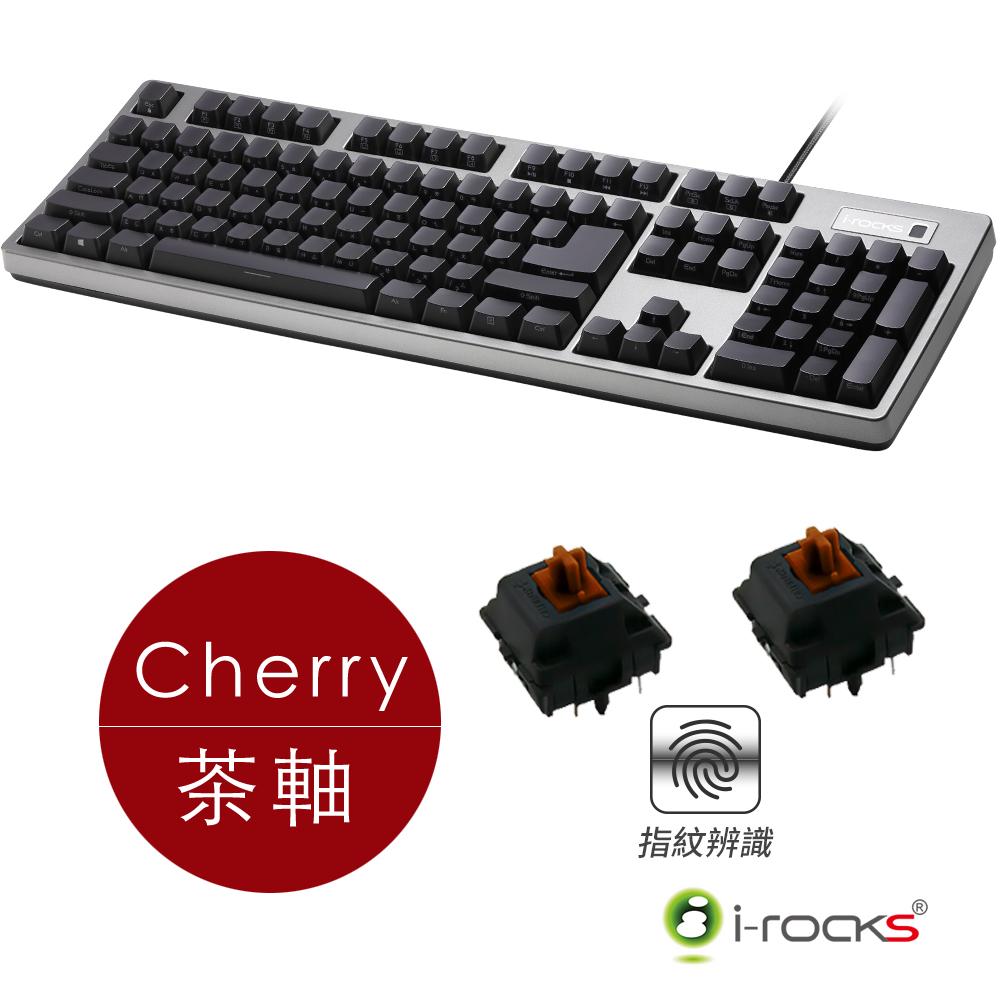 ▼指紋辨識,新潮流!!▼稀有大Enter鍵,雙USB埠i-Rocks K68MNF側刻無背光指紋辨識機械式鍵盤-德國Cherry茶軸