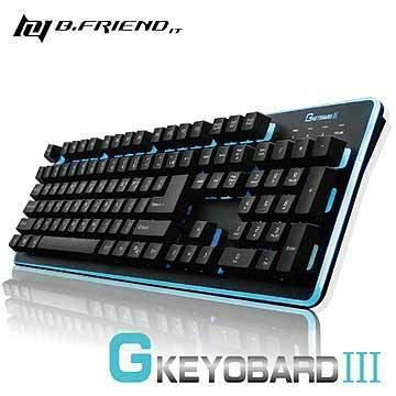 B.FRIEND 發光鍵盤 GK3-BK 黑色