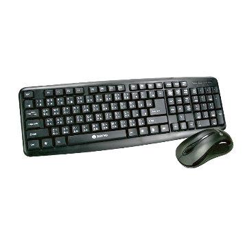 【KINYO】PS/2鍵盤+USB滑鼠組KBM-350