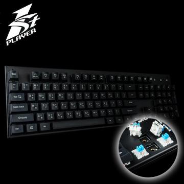首席玩家 1STPLAYER 火玫瑰II 青軸/中英文版/黑色 機械式鍵盤