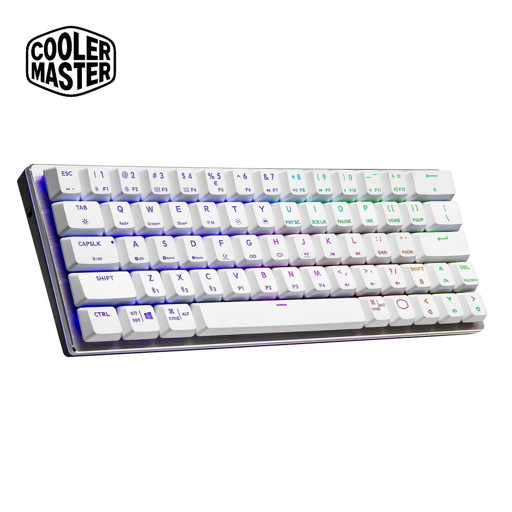 Cooler Master SK622 藍芽矮軸RGB機械式鍵盤 白色茶軸(英刻)