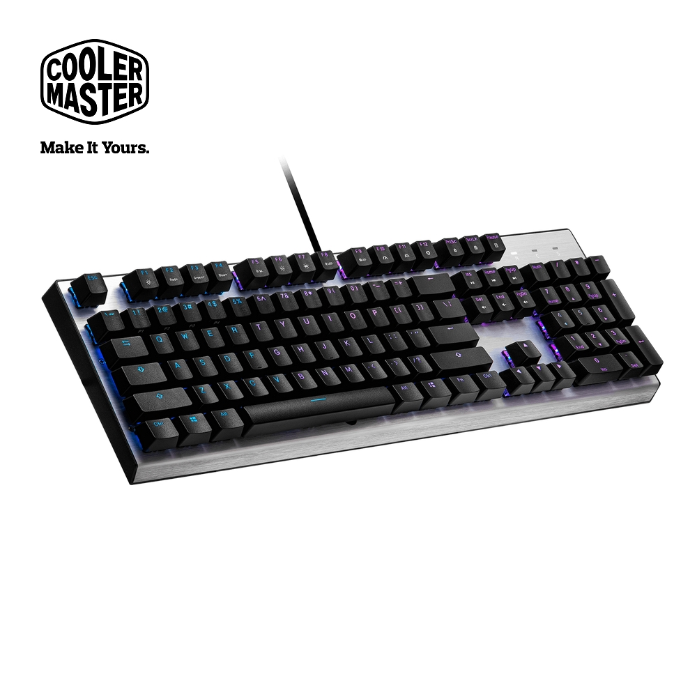 Cooler Master CK351 機械式光軸 RGB 電競鍵盤 (茶軸)