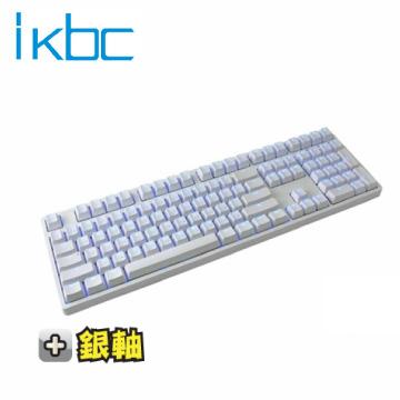 ikbc TD108 機械式鍵盤-白/銀軸中文/Cherry軸/PBT鍵帽/藍色背光