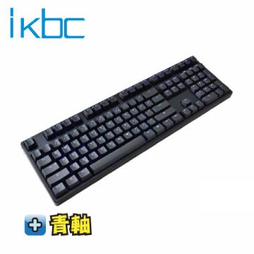 ikbc TD108 機械式鍵盤-黑/青軸中文/Cherry軸/PBT鍵帽/藍色背光