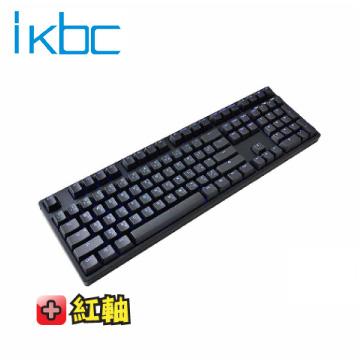 ikbc TD108 機械式鍵盤-黑/靜音紅軸中文/Cherry軸/PBT鍵帽/藍色背光