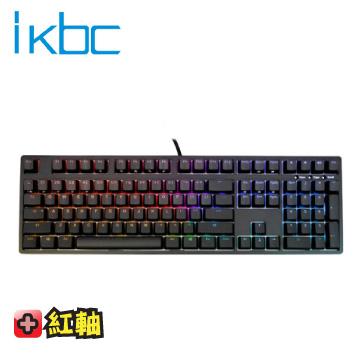 ikbc 時光機 F108 機械式鍵盤-黑/紅軸英刻/RGB背光/Cherry 軸/PBT鍵帽