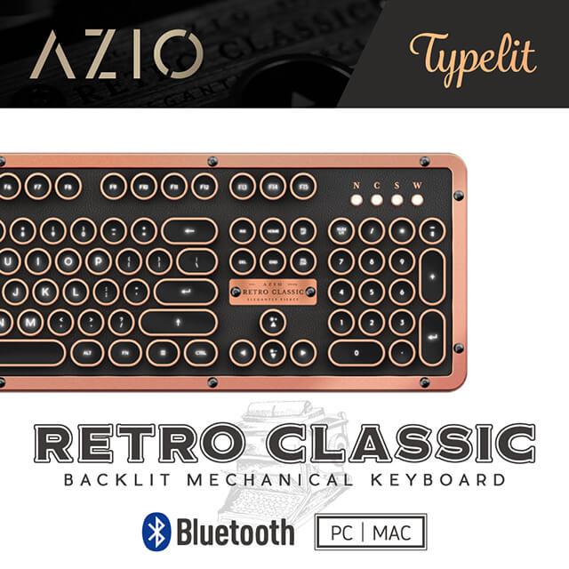AZIO RETRO ARTISAN BT 藍牙真牛皮打字機鍵盤(PC/MAC)