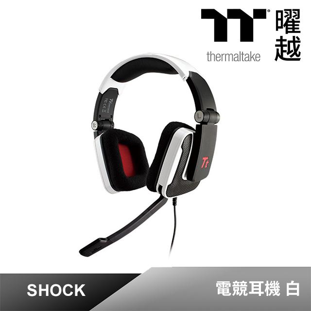 Tt eSPORTS SHOCK(震撼者) 電競專用頭戴式耳麥(白)