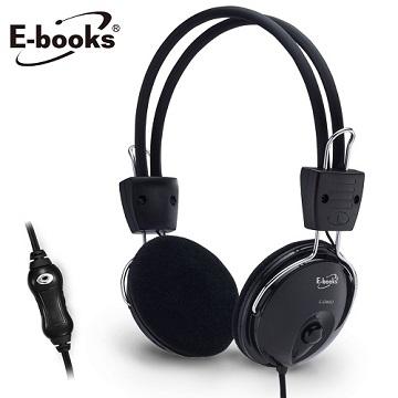 E-books伸縮旋轉頭戴耳機麥克風