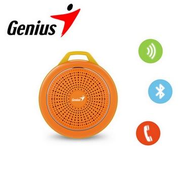 Genius 昆盈 第二代 彩色精靈輕巧藍牙喇叭-耀眼橘(SP-906BT2-OR)