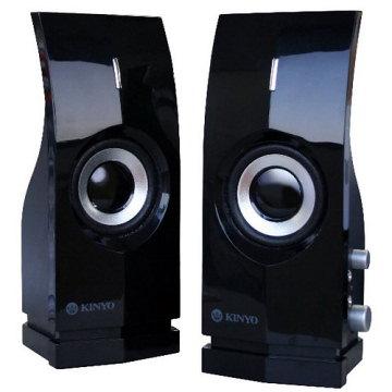 ★鏡面設計 完美流線【KINYO】時尚風 二件式 多媒體喇叭 (PS-291)