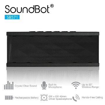 美國聲霸SoundBot SB571 藍牙2.1聲道隨身喇叭 6W + 6W