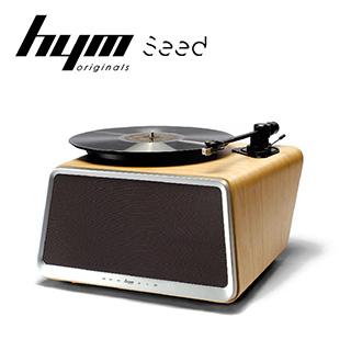 HYM Seed 黑膠智慧音響-白橡木