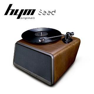 HYM Seed 黑膠智慧音響-胡桃木