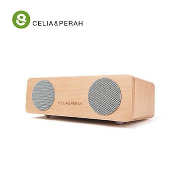 超越小巧體積的極佳音質表現CELIA&PERAH M2 無線藍牙高傳真實木音響 (山毛櫸原木色)