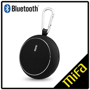 MiFa F1 繽紛多彩戶外隨身重低音藍芽喇叭(經典黑)