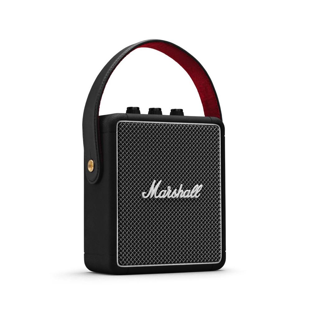 ★精緻荔枝紋皮革★Marshall STOCKWELL II 無線藍牙喇叭 經典黑(公司貨)