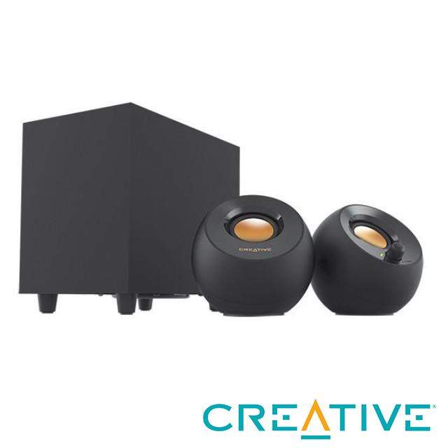 Creative PEBBLE PLUS 重低音 2.1 USB桌面喇叭