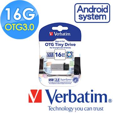 Verbatim 威寶16GB OTG TINY  USB3.0手機平板行動裝備隨身碟