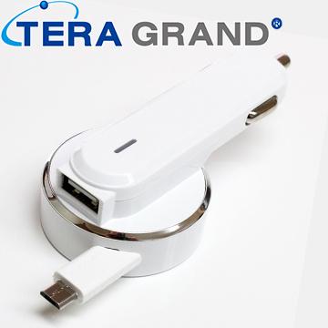 Micro USB 伸縮車充 (CHAR-RMB21A)