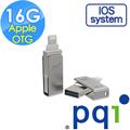 PQI 勁永 Apple OTG 16GB USB 3.0  iConnect mini 蘋果專用迷你金屬隨身碟(鐵灰)
