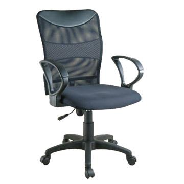 人體工學中背透氣網椅/P-211