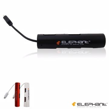 ELEPHANTOTG複合式多功能轉接器 4個USB埠(OTG001BK)黑