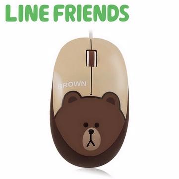 LINE FRIENDS 經典造型光學滑鼠-熊大(LN-L01)