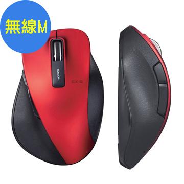 M-XG進化款,細部設計全面改良,提升整體手感ELECOM M-XG進化款無線滑鼠(M)紅