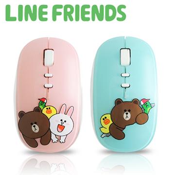 原價1398,限量5折LINE FRIENDS 浪漫法式鏡面 2.4G無線滑鼠-2入超值組(LN-LG01)