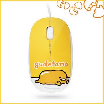 gudetama 蛋黃哥 有線滑鼠-悠哉黃 GU-L01Y