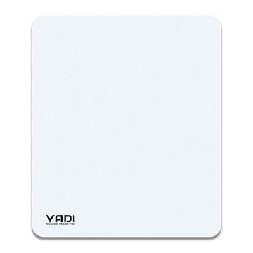 YADI 台灣製造-高滑順光學滑鼠墊(白)