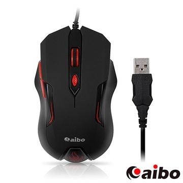 aibo S627 烈焰魔鼠 六鍵式高解析有線光學滑鼠