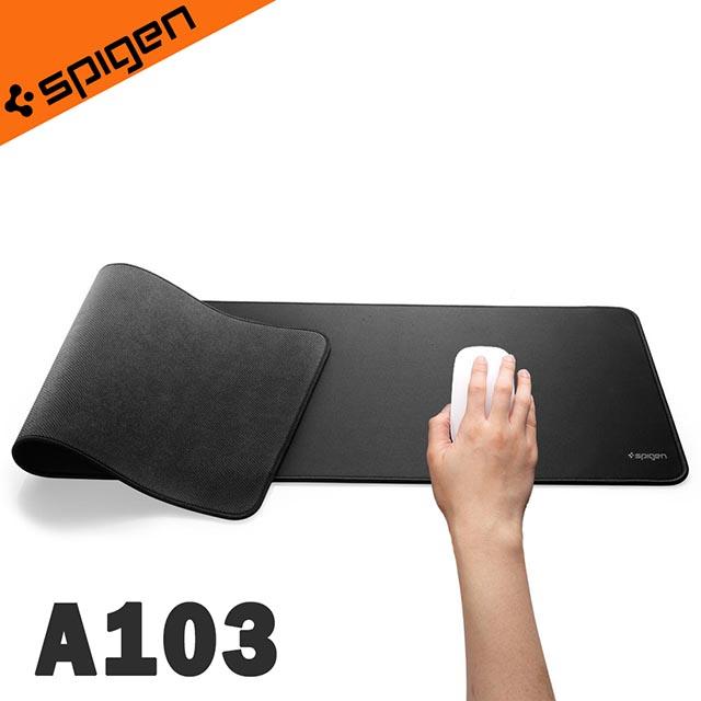 可水洗布料柔軟耐折 !韓國Spigen Regnum A103 防滑加長型耐水洗大面積鍵盤滑鼠墊