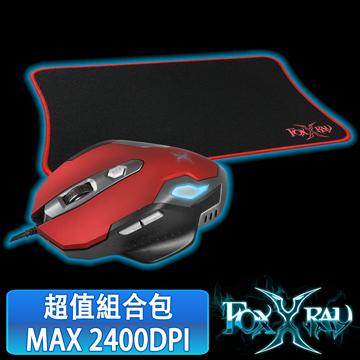FOXXRAY 霧月獵狐電競組合包(FXR-BMP-15/霧月紅)