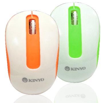 2.4GHz藍光無線滑鼠適用各種材質面