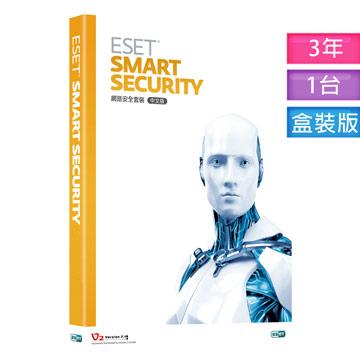 ESET SMART SECURITY (網路安全套裝)3年1台盒裝版