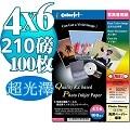 Color Jet 日本進口 優質RC超光澤相片紙 4X6 210磅 100張