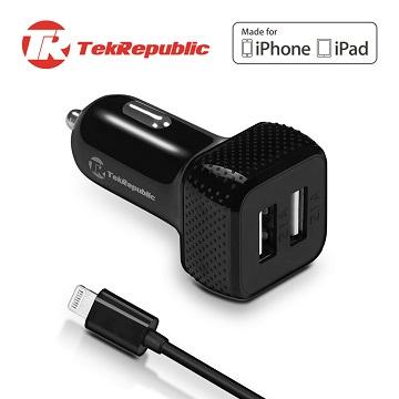 TekRepublic TCC-300 蘋果認證車充 (APPLE MFi CERTIFIED CAR CHARGER)